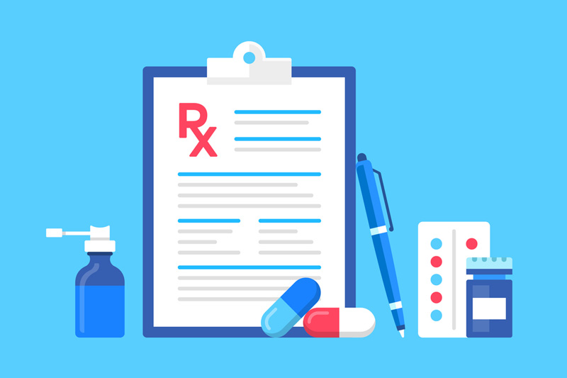 Rx clipboard and medications