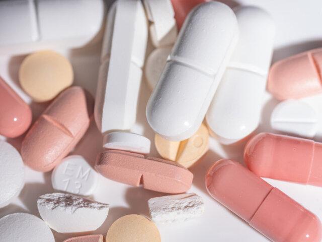 A pile of prescription medications