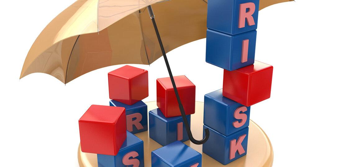 Toy blocks under umbrella