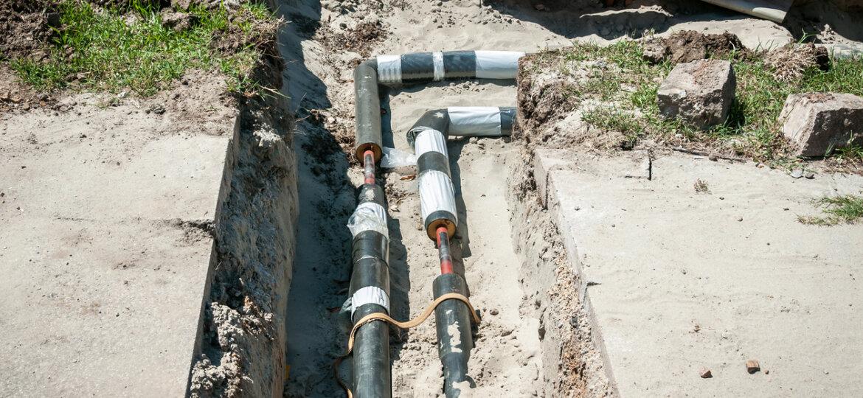 Underground heating pipes
