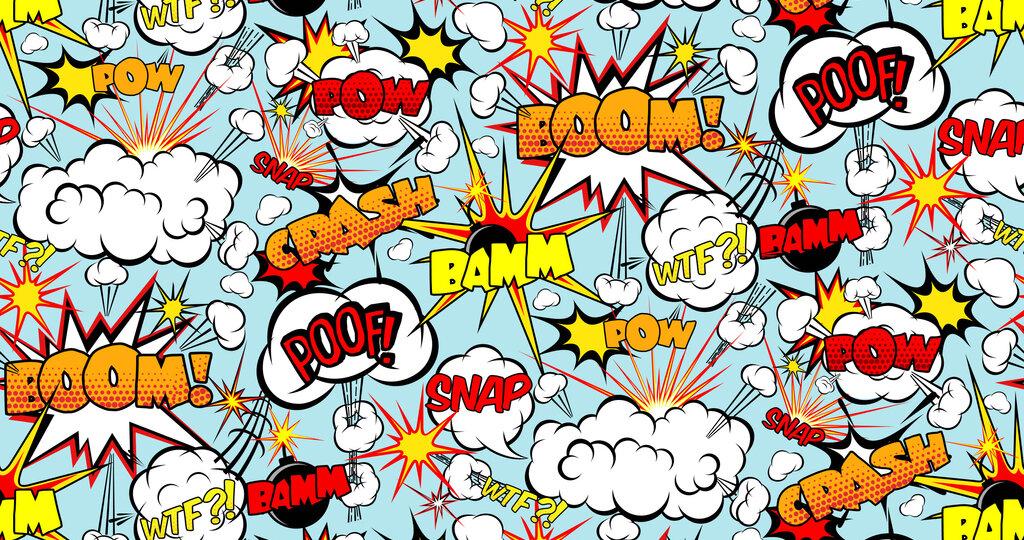Comic words illustration