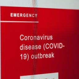 Red Coronavirus sign