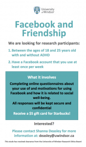 Facebook research study looking for participants