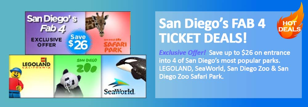 San Diego Attraction Tickets Legoland Sea World San Diego Zoo