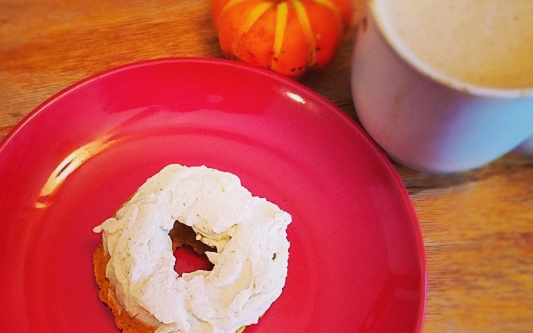 Keto Pumpkin Spice Donuts with Cream Cheese Frosting