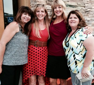 Kelli, Shannon, Jen and me out to dinner.