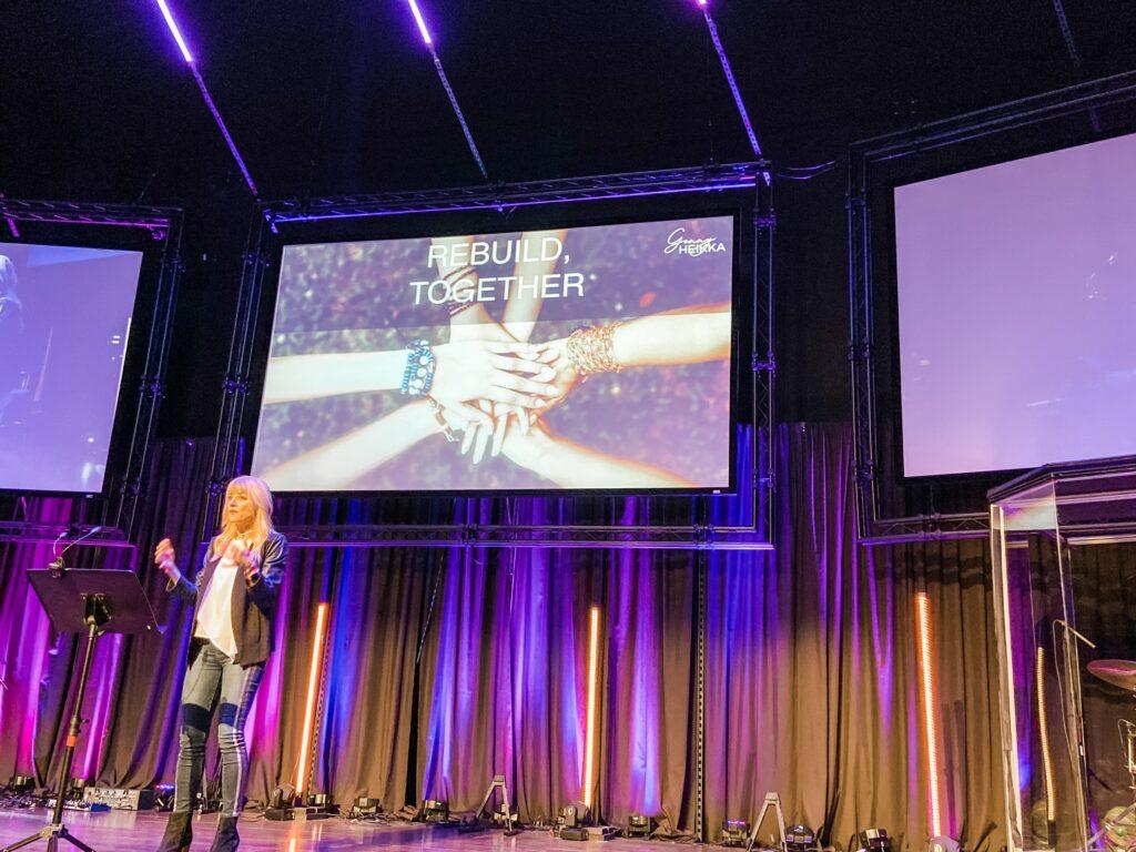 Genny Heikka speaking engagement Women's Event