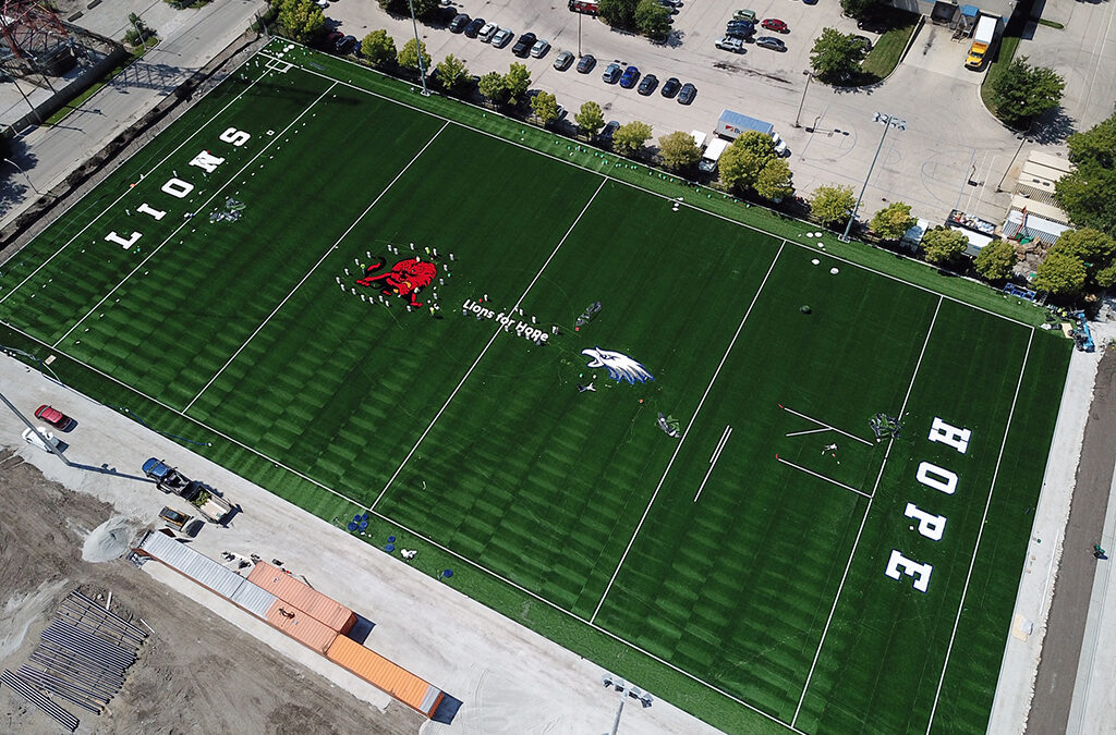 Field phase 2 with logos
