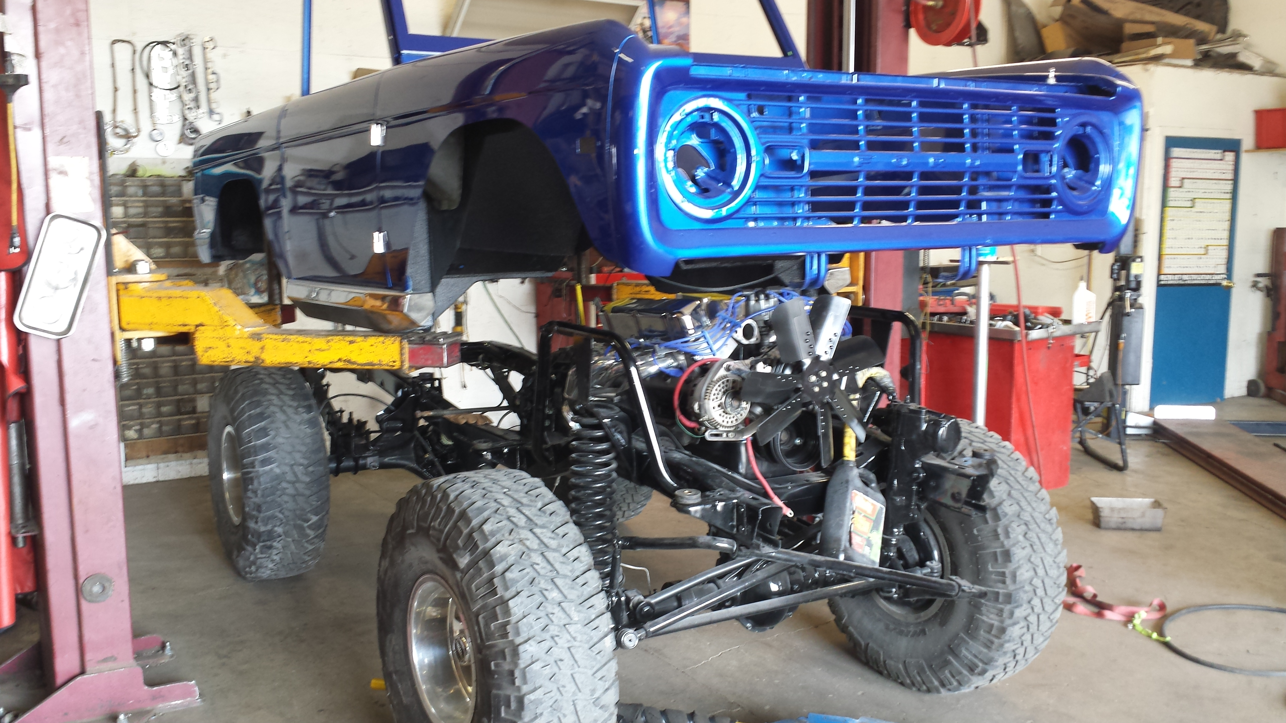 B&B Auto Repair - Early Blue Ford Bronco Restoration