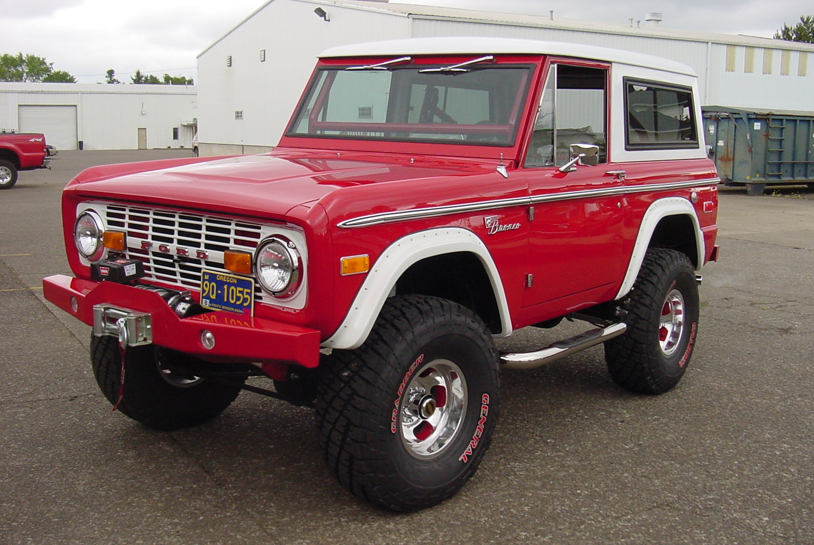 Red Early Ford Bronco Restoration
