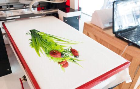 Flower Design being printed