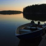 Boat on a Canadian lake, Guy Sagi, Raeford, Hoke County, North Carolina