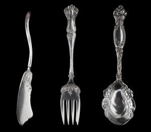 kitchen art, antique silverware, metal prints, Guy Sagi, Raeford North Carolina, Hoke County