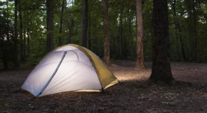 Camping on Uwharrie National Forest, strobist photography, Guy Sagi, Brilia BB-110C review, bare bulb photography