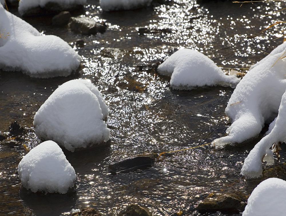 Frozen stream in Colorado, Guy Sagi