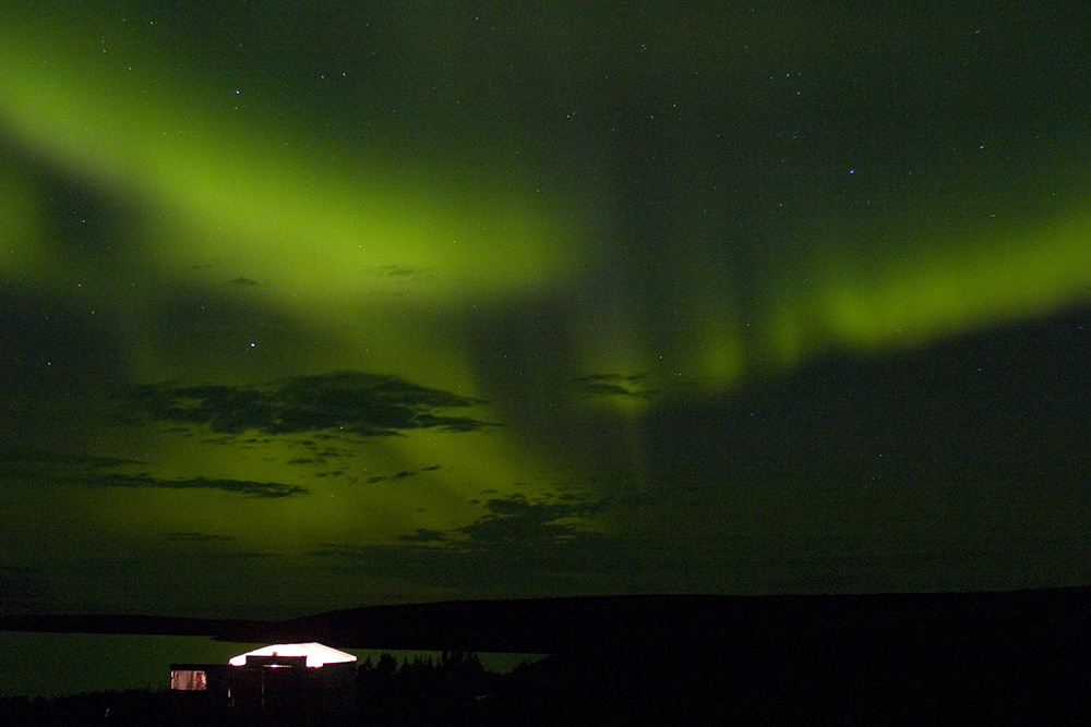 Northern lights, aurora borealis, Guy Sagi