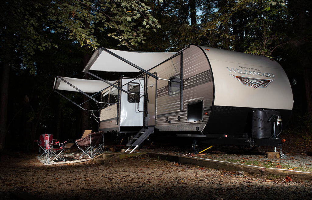 Camper trailer photography forest river wildwood