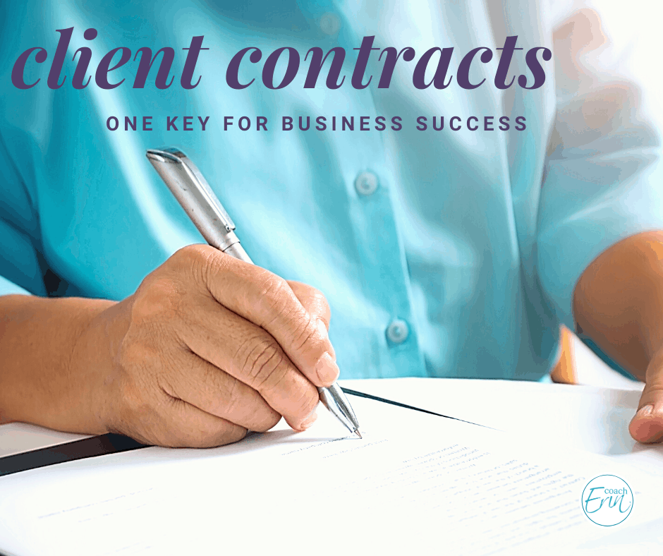 Creating Client Contracts: one key to your business success