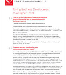Taking Business Development to a Higher Level