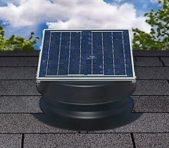 Natural Light Solar Roof and Attic Fan by Affordable Roofing
