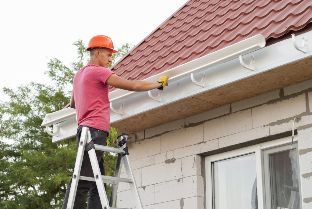 Install a gutter to your roof for improved maintenance