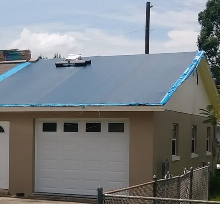 Roof tarping in emergency situations to keep leaks at bay until able to repair your roof after a hurricane or storm