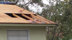 Roof decking wood repair and replacement done on a Kissimmee Florida home