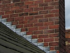 Choose metal wall step flashing which can be used around chimney for extra leak protection
