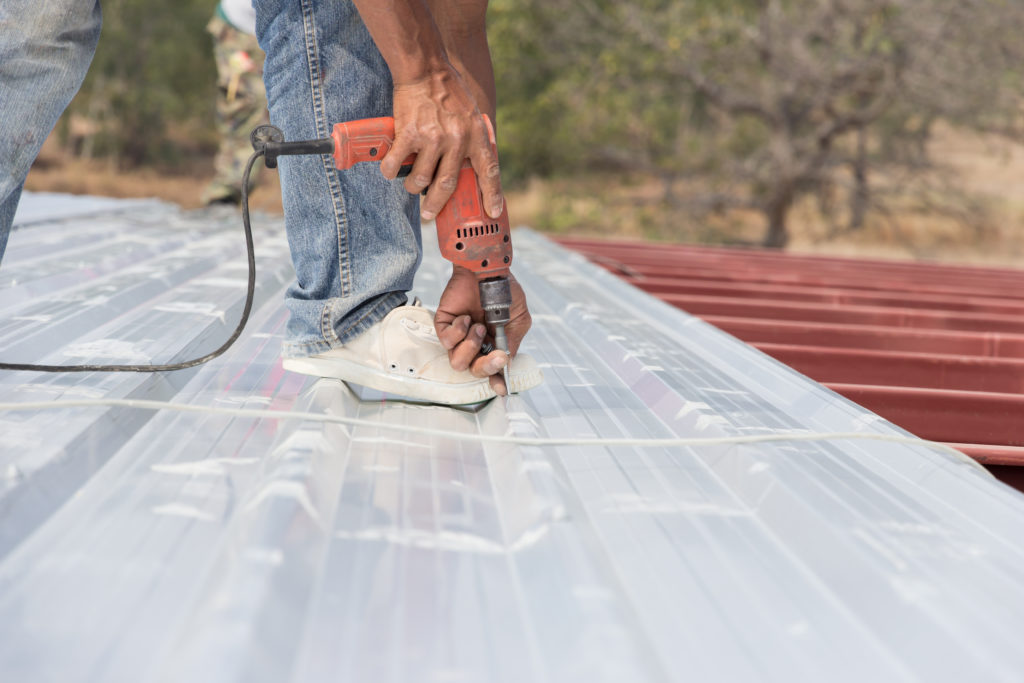 Affordable Roofing Installing Corrugated Roof Metal Panel