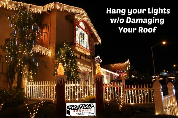 Be safe when hanging lights on your roof, balcony and more
