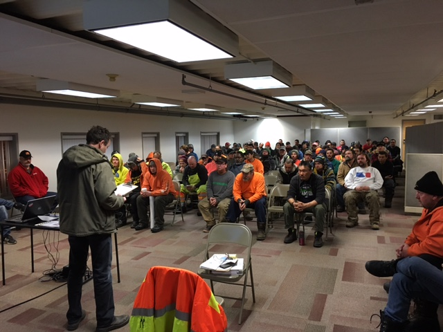 Seismic Team Safety Meeting 2017