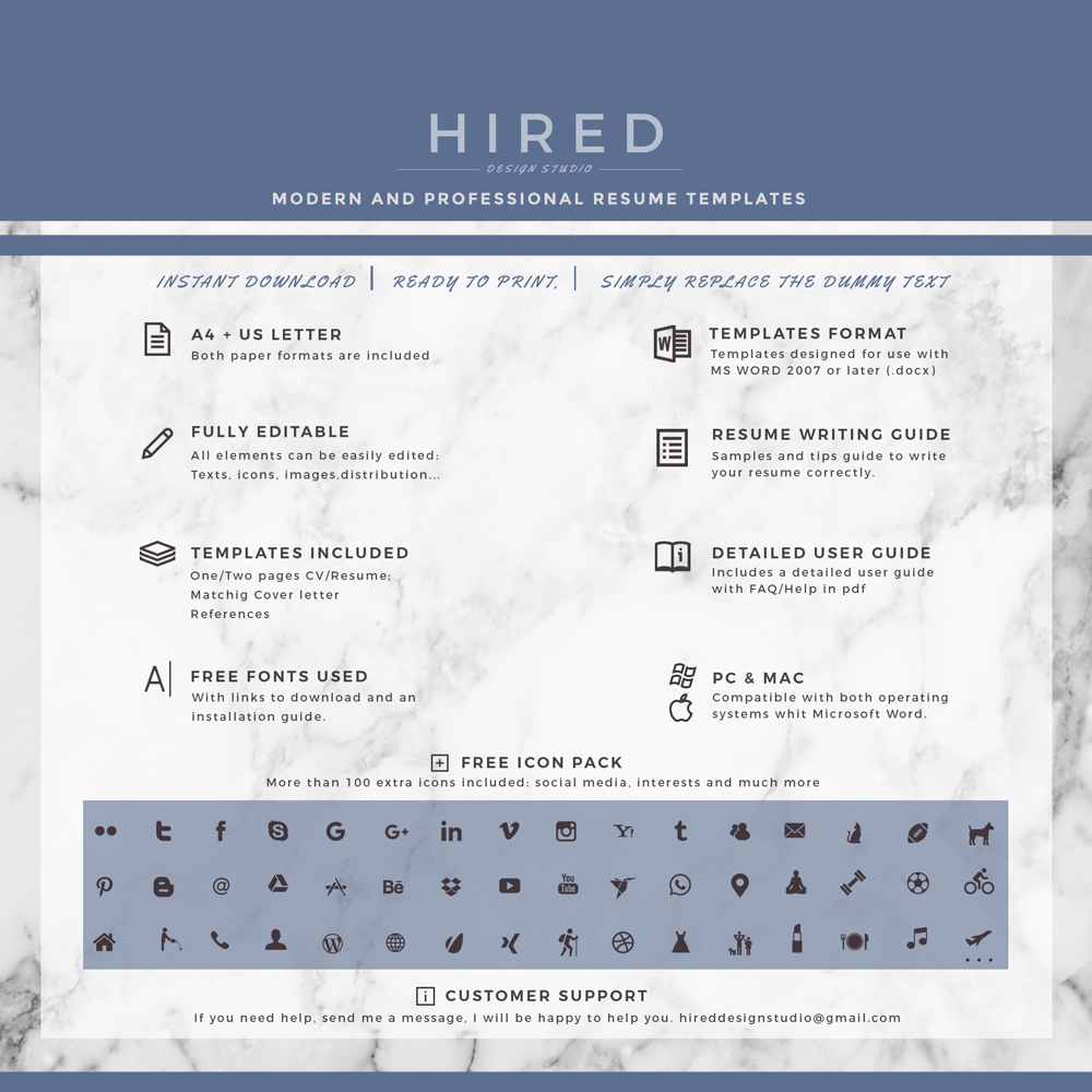 """Creative Resume Template for MS Word: """"Taylor"""""""