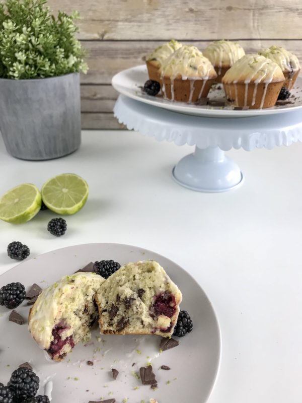 Blackberry Lime Chocolate Muffins
