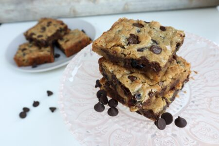 Cranberry Orange Chocolate Blondies