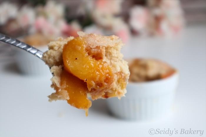 Peach Cobbler Recipe for two
