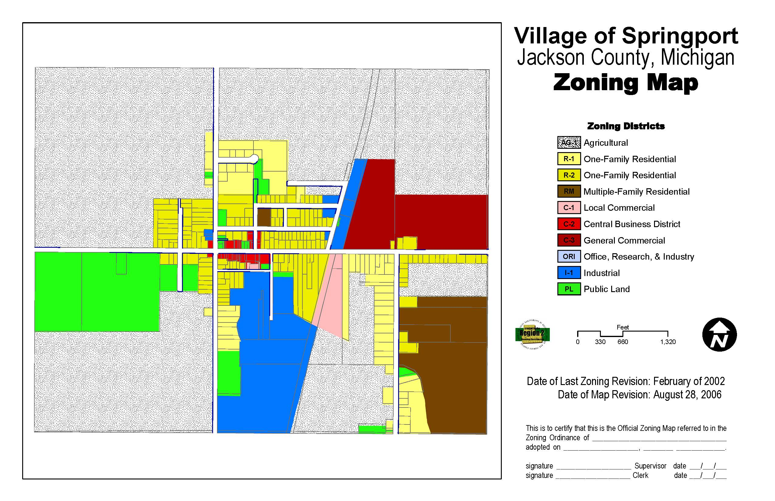 Springport-Village-Zoning-Map