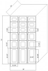 SnapVend 18-Door Locker - Varied Size Bays