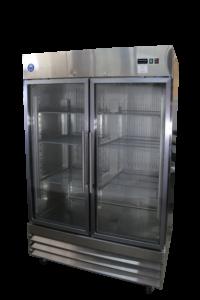 47 cu ft commercial glass door merchandiser