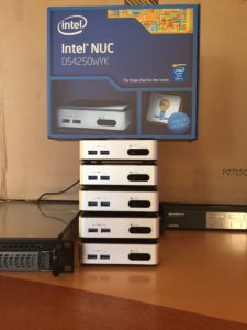 My home data center NUC cluster