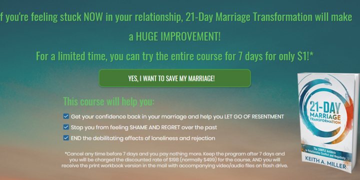 21-Day Marriage Transformation Review – marriagehelpadvisor.com a Scam?