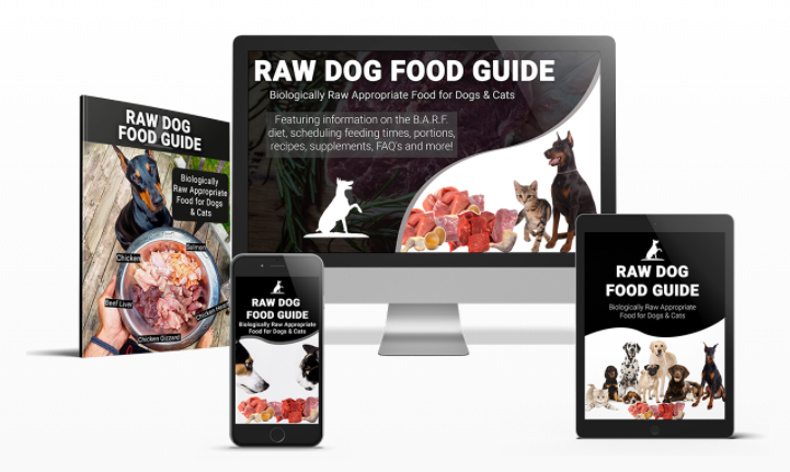 Button to Raw Food Guide for Dogs and Cats website