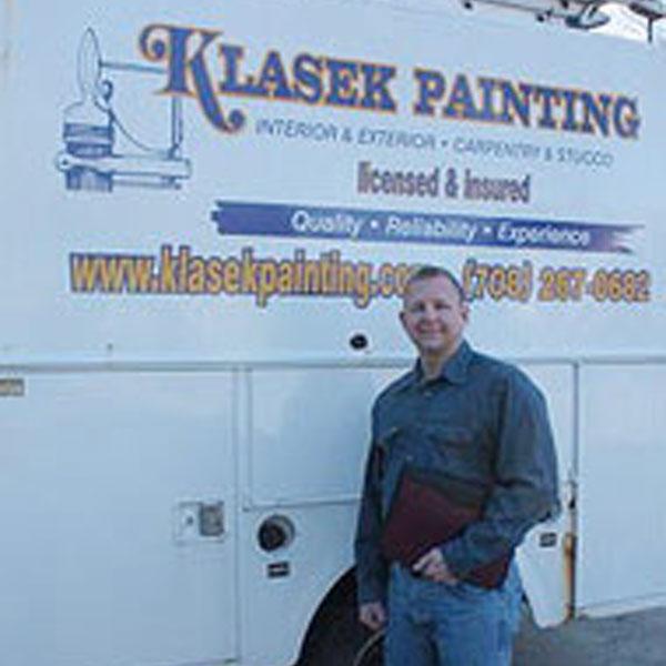 Klasek Painting Contractor in front of truck