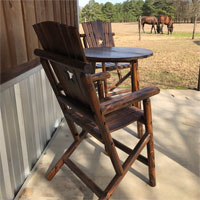 Chairs and table on the porch