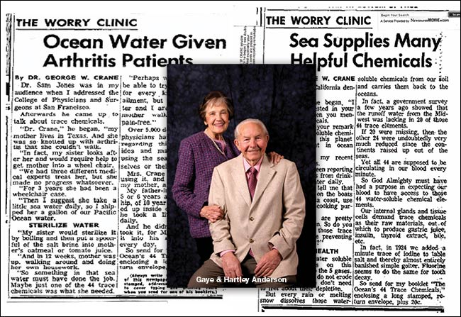 Dr. Crane The Worry Clinic Gaye and Hartley Anderson