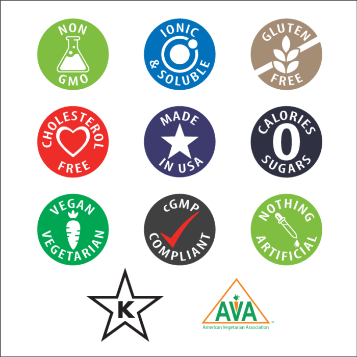 Anderson Sea M.D. Nutritional Icons
