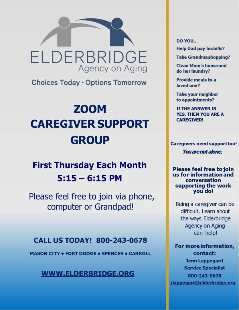 Caregiver Support Group Flyer