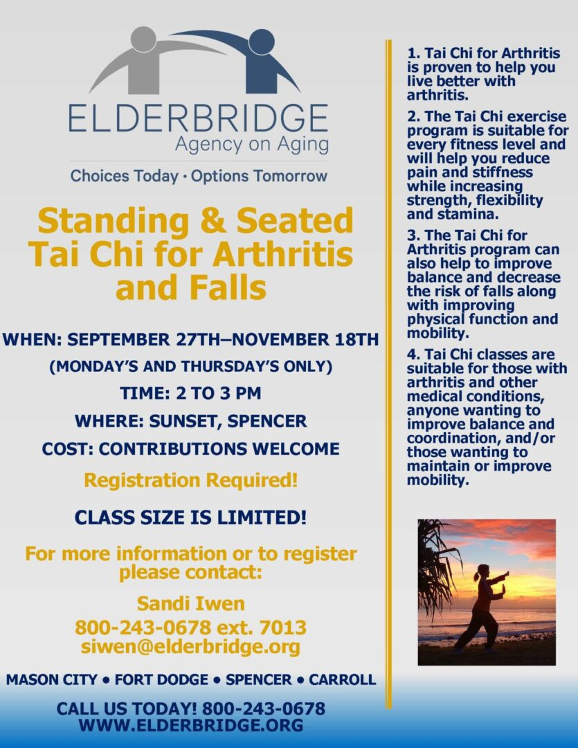 Standing and seated tai chi poster
