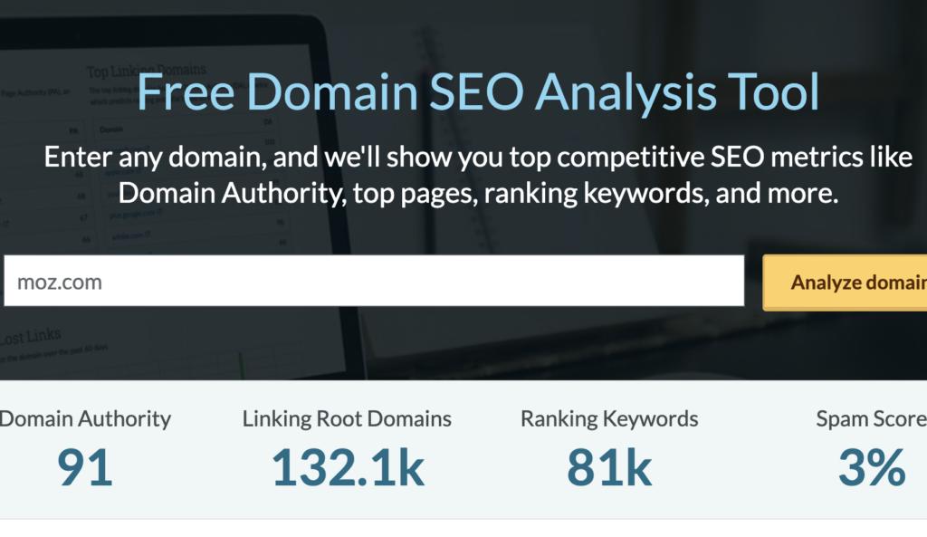 moz domain analysis marketing resource