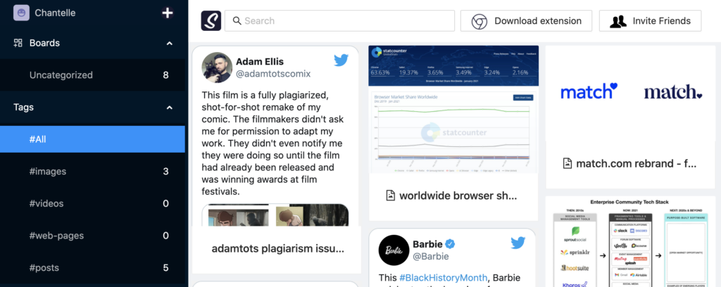 screenshot of swpely content creation app, one of the best free marketing tools