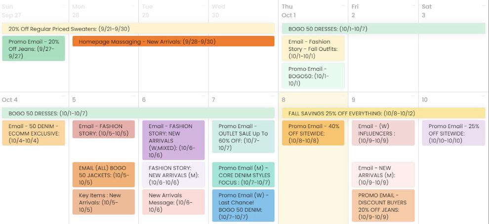 free marketing tools: promoprep marketing team campaign calendar and team project management app